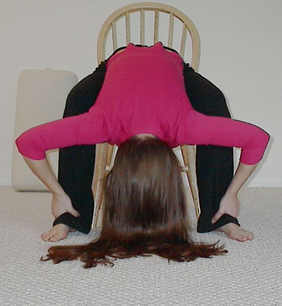 chair yoga forward bend